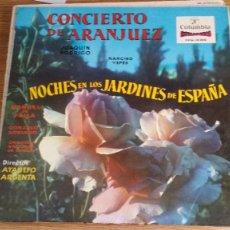Discos de vinilo: *CONCIERTO DE ARANJUEZ / NOCHE EN LOS JARDINES DE ESPAÑA - LP AÑO 1968 - LEER DESCRIPCIÓN. Lote 251345890