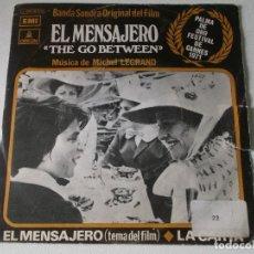 Discos de vinilo: MICHEL LEGRAND – BANDA SONORA ORIGINAL DEL FILM EL MENSAJERO = THE GO BETWEEN 1971, PROMOCIONAL. Lote 251352800