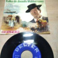 Disques de vinyle: JUANITO VALDERRAMA - EL EMIGRANTE - EP 1964. Lote 251367290
