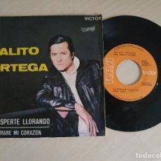Discos de vinilo: PALITO ORTEGA - ME DESPERTE LLORANDO / CERRARE MI CORAZON (SINGLE DE 1969) VINILO EX++. Lote 251381235