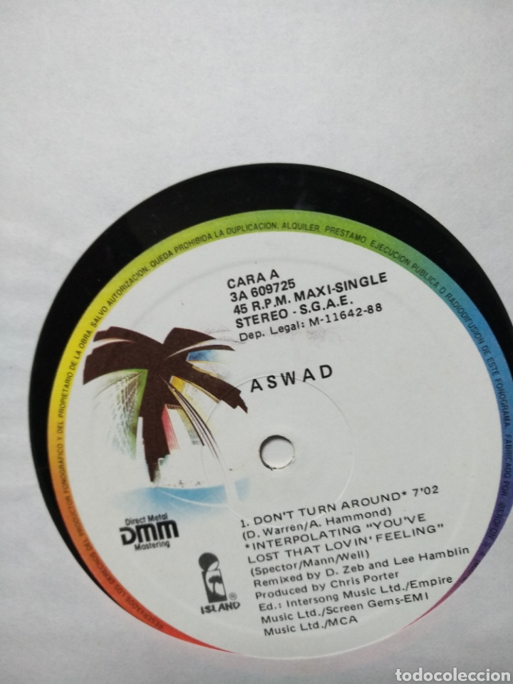 ASWARD - DONT TURN AROUND (Música - Discos de Vinilo - Maxi Singles - Reggae - Ska)