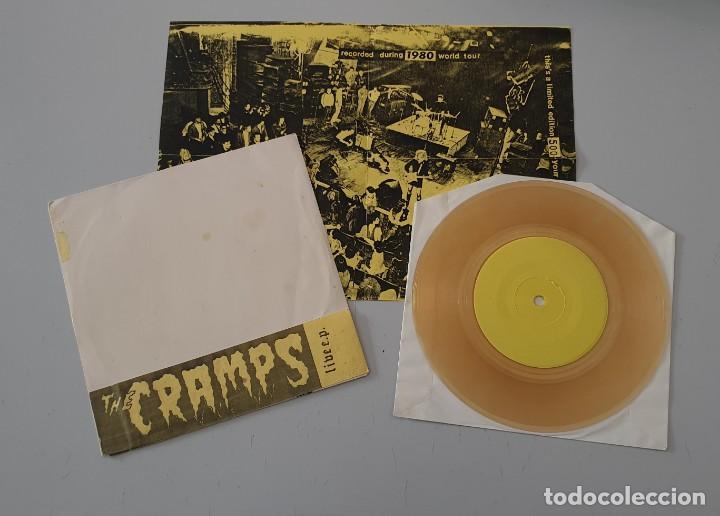 Discos de vinilo: EP THE CRAMPS LIVE E.P. - Limited 500 w/ insert! - ULTRA RARE CRAMPS ITEM!! - Foto 3 - 251526110