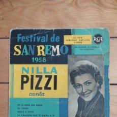Discos de vinilo: EP NILLA PIZZI. Lote 251539090