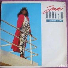 Disques de vinyle: LP - JAKI GRAHAM - BREAKING AWAY (SPAIN, EMI 1986). Lote 251634450