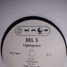 """Discos de vinilo: E.P. MAXI 12"""" - DEL 5 - LIGHTSPEED (TRIBAL FUNK HOUSE PORTUGAL 1999). Lote 251706140"""