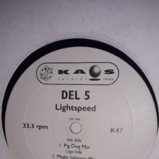 "Discos de vinil: E.P. MAXI 12"" - DEL 5 - LIGHTSPEED (TRIBAL FUNK HOUSE PORTUGAL 1999). Lote 251706140"