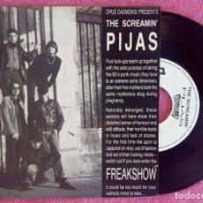 """Discos de vinilo: 7"""" THE SCREAMIN' PIJAS - FREAKSHOW EP - BUTTFUCK PLACE +3 - OPUS DAEMONIS 666 SH 002 (VG++/EX+). Lote 251747990"""