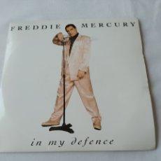 Discos de vinilo: FREDDIE MERCURY,IN MY DEFENCE,PROMO SINGLE VG. Lote 251776620