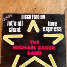 Discos de vinilo: VINILO THE MICHAEL ZAGER BAND / 1977-MAXI SINGLE - PVDD 1. Lote 251789765
