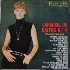 Discos de vinilo: CARRUSEL DE ÉXITOS Nº 4. RITA PAVONE, THE ROKES, AUTE,SILVANA VELASCO,SYLVIE VARTAN,LOS MARTINS...LP. Lote 251835430