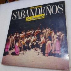 Disques de vinyle: LOS SABANDEÑOS- DESDE CANARIAS EN CONCIERTO. DOBLE LP. Lote 251853310