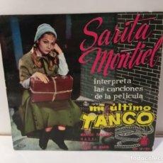 Discos de vinilo: SARITA MONTIEL SARA MONTIEL MI ÚLTIMO TANGO SINGLE 1960. Lote 251858590
