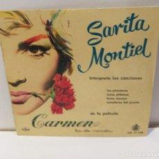Discos de vinilo: SARITA MONTIEL SARA MONTIEL- CARMEN LOS PICONEROS SINGLE 1959. Lote 251863930