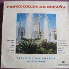 Disques de vinyle: LP - PASODOBLES DE ESPAÑA - ORQUESTA TIPICA ESPAÑOLA (SPAIN, DISCORAMA 1964, PORTADA DOBLE). Lote 251865925