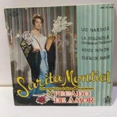 Discos de vinilo: SARITA MONTIEL SARA MONTIEL PECADO DE AMOR SINGLE 1961. Lote 251867510