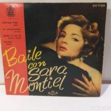 Discos de vinilo: SARA MONTIEL SARITA BAILE CON SARA 1958 SINGLE. Lote 251870595