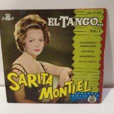 Discos de vinilo: SARA MONTIEL SARITA EL TANGO BANDONEÓN ARRABALERO 1961. Lote 251872010