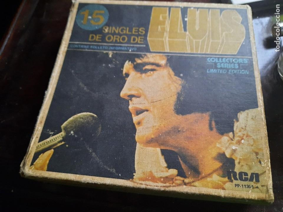 ELVIS PRESLEY - 15 SINGLES DE ORO - CAJA VACIA. (Música - Discos - Singles Vinilo - Rock & Roll)