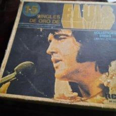 Disques de vinyle: ELVIS PRESLEY - 15 SINGLES DE ORO - CAJA VACIA.. Lote 251890865