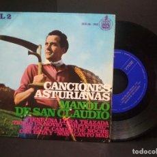 Discos de vinilo: EP MANOLO DE SAN CLAUDIO ,VOL 2- TIENE UNA LINEA TRAZADA +3. ASTURIAS PEPETO. Lote 251920050