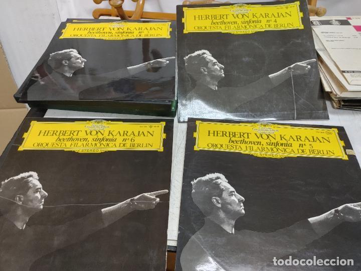 4 LP HERBERT VON KARAJAN ORQUESTA FILARMONICA BERLIN BEETHOVEN SINFONIAS 3-4-5-6. BUEN ESTADO (Música - Discos - LP Vinilo - Clásica, Ópera, Zarzuela y Marchas)