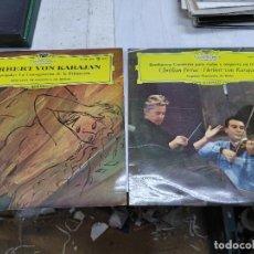 Discos de vinilo: 2 LP HERBERT VON KARAJAN Y CHRISTIAN FERRAS BEETHOVEN Y STRAWINSKY FILARMONICA BERLIN BUEN ESTADO. Lote 251936270