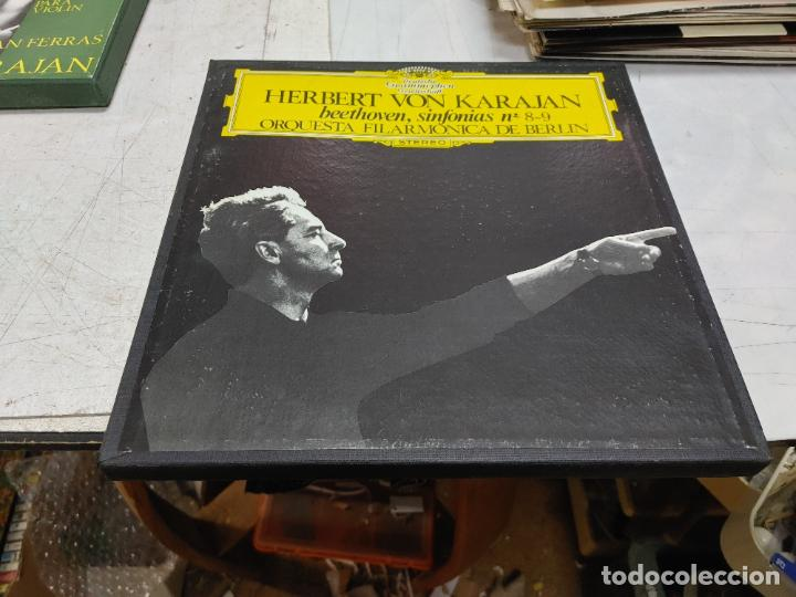 2 LP BOX HERBERT VON KARAJAN BEETHOVEN SINFONIAS 8-9 FILARMONICA BERLIN BUEN ESTADO (Música - Discos - LP Vinilo - Clásica, Ópera, Zarzuela y Marchas)