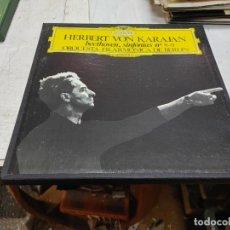 Discos de vinilo: 2 LP BOX HERBERT VON KARAJAN BEETHOVEN SINFONIAS 8-9 FILARMONICA BERLIN BUEN ESTADO. Lote 251936735