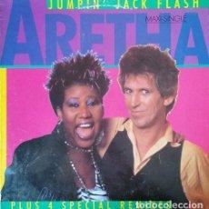 Discos de vinilo: ARETHA FRANKLIN & KEITH RICHARDS THE ROLLING STONES - JUMPIN' JACK FLASH - MAXI SINGLE ESPAÑOL #. Lote 251947430