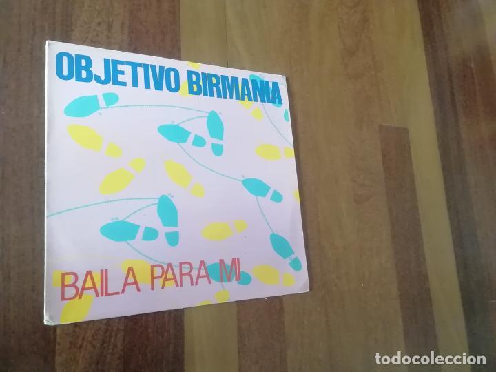 OBJETIVO BIRMANIA-BAILA PARA MI. MAXI (Música - Discos de Vinilo - Maxi Singles - Grupos Españoles de los 70 y 80)