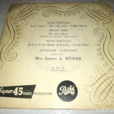 Discos de vinilo: NEGRO SPIRITUALS-JUBILEE SINGERS. Lote 252070545