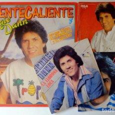 Discos de vinilo: GEORGIE DANN. CALIENTE CALIENTE (LP)+LA LLORONA LOCA+KOUMBO+ULE TAMOURE (SINGLES). Lote 252076345