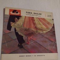Discos de vinilo: PARA BAILAR- HORST WENDE Y SU ORQUESTA- VINILO - POLYDOR-. Lote 252081600