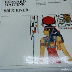 Discos de vinilo: BERNARD HAITINK, SINFONÍA Nº 9 DE BRUCKNER - LP DE VINILO ORQUESTA AMSTERDAM. Lote 252120000