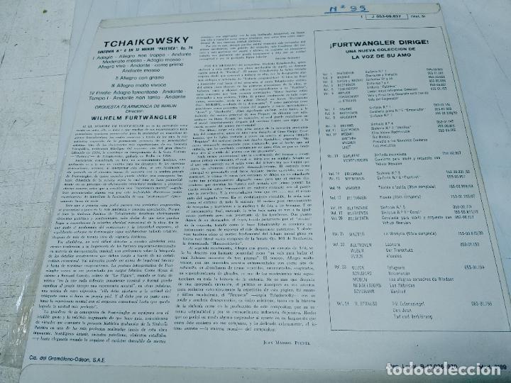 Discos de vinilo: LP DISCO VINILO TCHAIKOVSKY - SINFONIA Nº 6 FURTWANGLER CON LA ORQUESTA FILARMONICA DE BERLIN - Foto 2 - 252120550