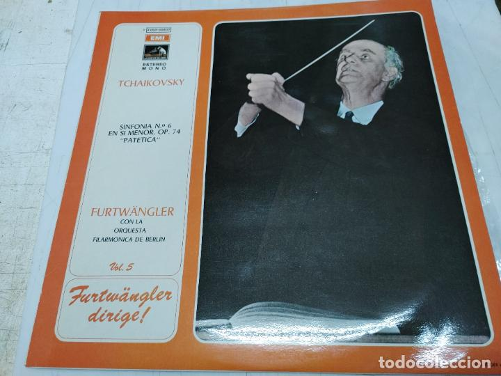 LP DISCO VINILO TCHAIKOVSKY - SINFONIA Nº 6 FURTWANGLER CON LA ORQUESTA FILARMONICA DE BERLIN (Música - Discos - LP Vinilo - Clásica, Ópera, Zarzuela y Marchas)