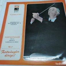 Discos de vinilo: LP DISCO VINILO TCHAIKOVSKY - SINFONIA Nº 6 FURTWANGLER CON LA ORQUESTA FILARMONICA DE BERLIN. Lote 252120550
