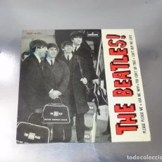 Discos de vinilo: THE BEATLES -- PLEASE PLEASE ME & CAN´T BUY ME LOVE + 2 LABEL AZUL FUERTE -- MINT M. Lote 252145550