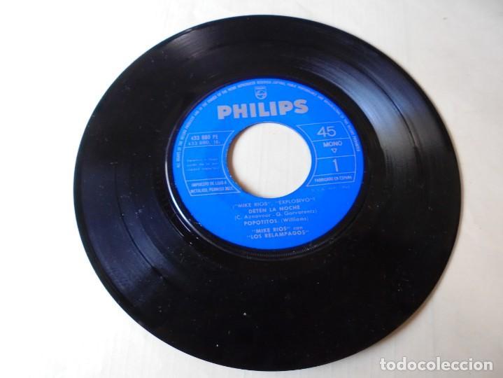 MAGNIFICO SINGLE MIKE RIOS CON LOS RELAMPAGOS,DETEN LA NOCHE DEL 1962 SOLO DISCO (Música - Discos - Singles Vinilo - Grupos Españoles 50 y 60)