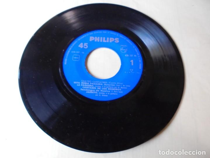 MAGNIFICO SINGLE CUATRO CANTAORES,ESTA RUBIA PANAERA,LA PAQUERA,DEL 1960,SOLO SINGLE (Música - Discos - Singles Vinilo - Flamenco, Canción española y Cuplé)