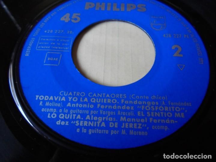 Discos de vinilo: magnifico single cuatro cantaores,esta rubia panaera,la paquera,del 1960,solo single - Foto 3 - 252150210