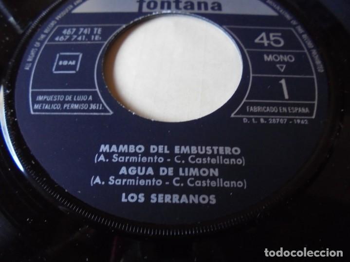 Discos de vinilo: single mambo del embustero,agua de limon,el carro de la taranta,los jardineros,del 1962 solo single - Foto 2 - 252150890