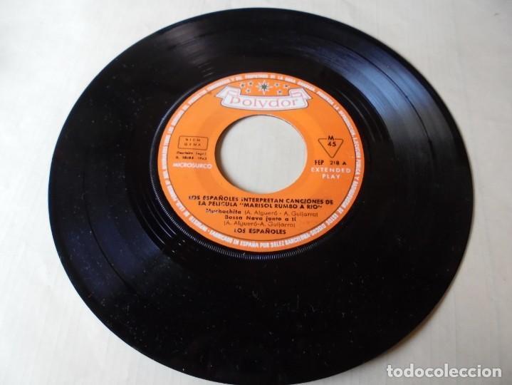 MAGNIFICO SINGLE LOS ESPAÑOLES,INTERPRETAN CANCIONES DE LA PELICULA MARISOL RUMBO AL RIO,SOLO SINGLE (Música - Discos - Singles Vinilo - Grupos Españoles 50 y 60)
