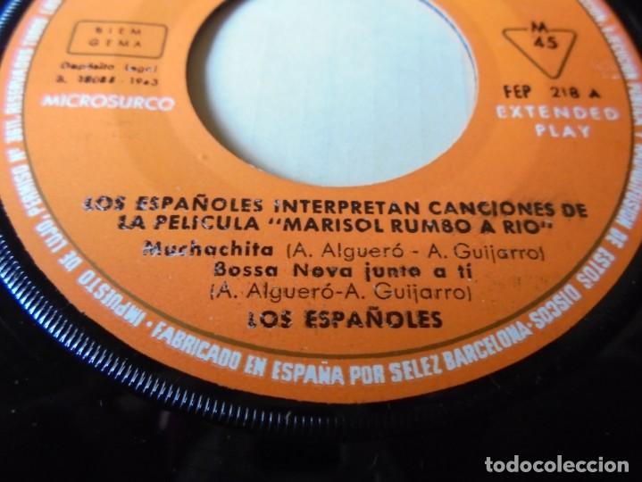 Discos de vinilo: magnifico single los españoles,interpretan canciones de la pelicula marisol rumbo al rio,solo single - Foto 2 - 252151655