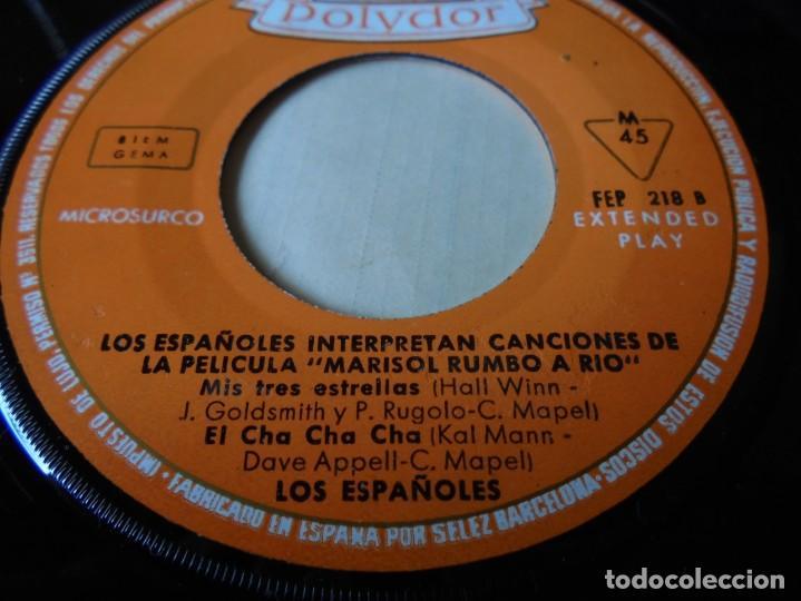 Discos de vinilo: magnifico single los españoles,interpretan canciones de la pelicula marisol rumbo al rio,solo single - Foto 3 - 252151655