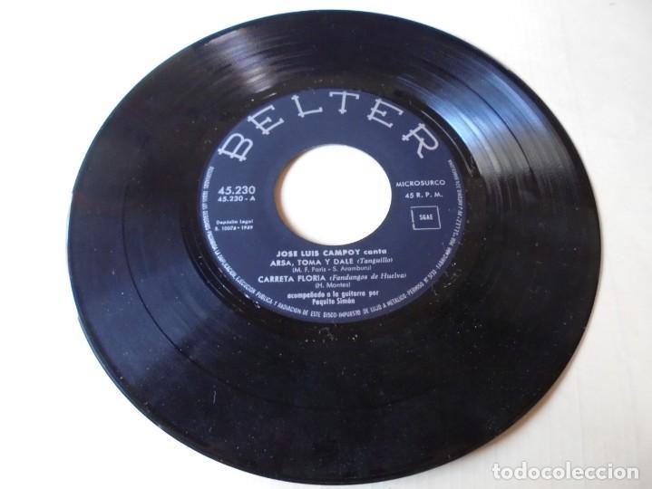 SINGLE JOSE LUIS CAMPOY CANTA ARSA,TOMA Y DALE,CARRETA FLORIDA DEL 1959,SOLO SINGLE (Música - Discos - Singles Vinilo - Flamenco, Canción española y Cuplé)