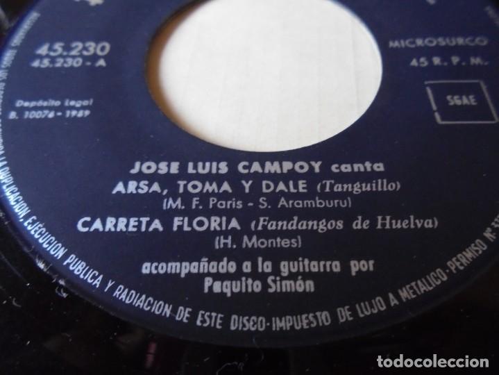 Discos de vinilo: single jose luis campoy canta arsa,toma y dale,carreta florida del 1959,solo single - Foto 2 - 252152830