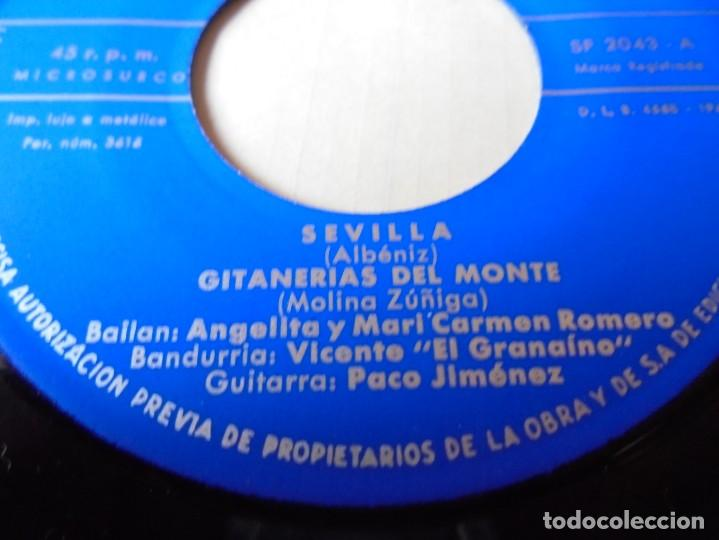 Discos de vinilo: single sevilla,gitanerias del monte del 1961,solo single - Foto 2 - 252154230
