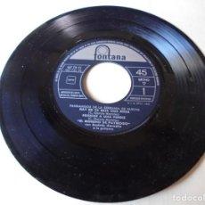 Discos de vinilo: SINGLE EL MORENO DE PAYMOGO FANDANGOS DE LA SERRANIA,HAY EN TU REJA UNA ROSA,DEL 1962,SOLO SINGLE. Lote 252155015