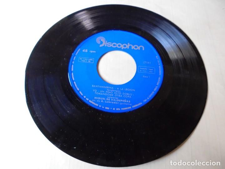 SINGLE MIGUEL DE VALDEPEÑAS SANTANDERINA,UN PINO ALTO DOBLO,TOMANDOME OTRA COPA 1962,SOLO SINGLE (Música - Discos - Singles Vinilo - Flamenco, Canción española y Cuplé)